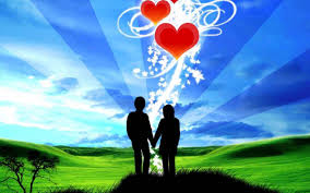 love - couple with hearts