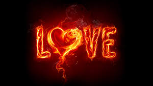 love - heart on fire