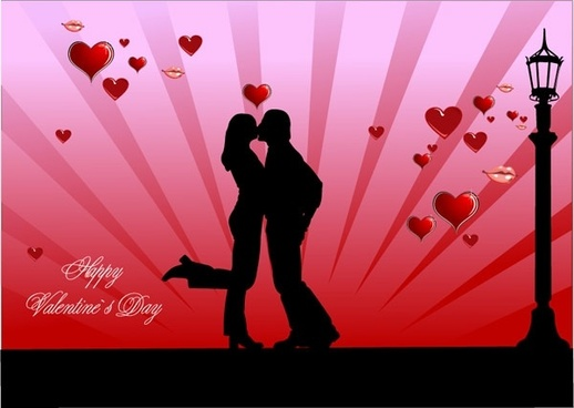 valentine_day_couples_kissing_vector_154097